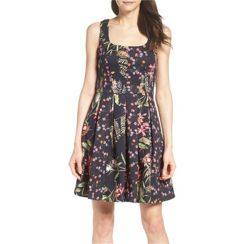 French Connection Womens Bluhm & Botero Shift Dress, black, 4