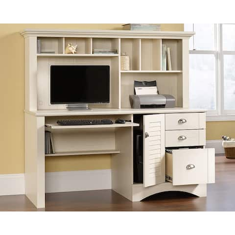 Harbor View Collection Computer Desk With Hutch