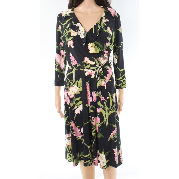 588abc72632 Shop Tommy Hilfiger Floral Print Ruffled Women's Wrap Dress - Free Shipping  On Orders Over $45 - Overstock - 26920079