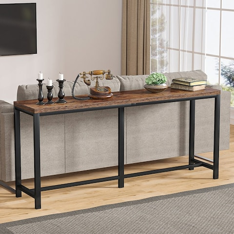 70.9 inch Extra Long Console Table Behind Sofa Couch, Narrow Entry Table