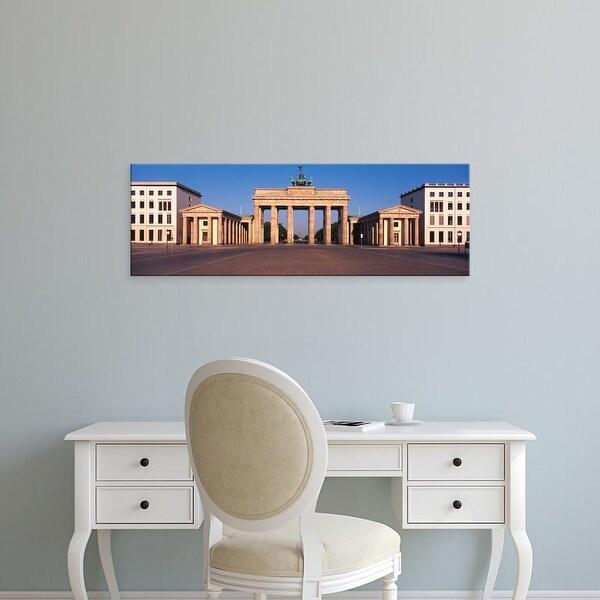 Easy Art Prints Panoramic Images's 'Facade of a building, Brandenburg Gate, Berlin, Germany' Premium Canvas Art