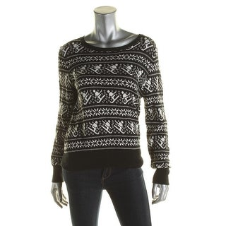 525 Made In America Womens Pullover Sweater Knit Fair Isle - m