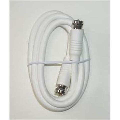 RG6 White High Definition Coaxial Cable, 3 ft.