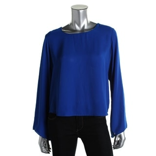 Vince Camuto Womens Bell Sleeves Solid Blouse