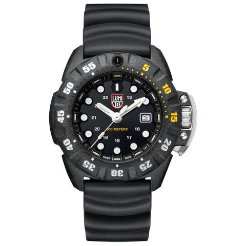 Luminox Men's XS.1555 Scott Cassell Deep Dive 45 mm Black Rubber Strap Watch