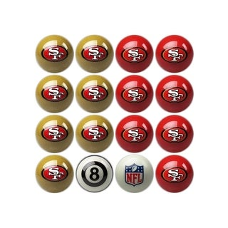 NFL San Francisco 49ers Home vs. Away Team Billiard Pool Ball Set