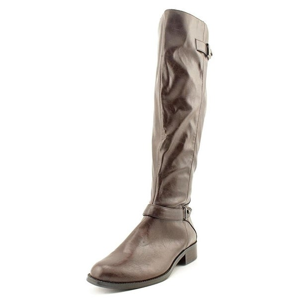 Alfani Womens Mable Leather Almond Toe Knee High Fashion Boots