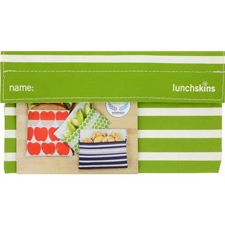 Lunchskins Snack Bag - Green Stripe Reusable Bags