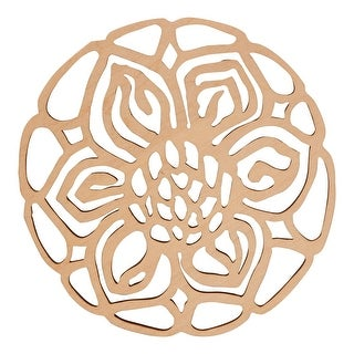 Garden Party Coasters Set of 6 - Laser Cut Absorbent Basswood Flowers
