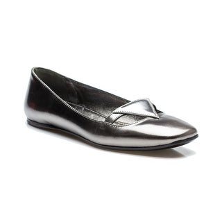 Prada Women's Ballerina Flat Silver Reflective Shoes