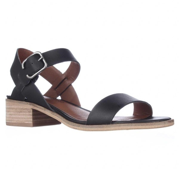 Lucky Brand Toni Ankle Strap Casual Sandals, Black - 10 us / 40 eu