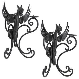 Castle Dragon Wall Sconces: Set Of 2 Design Toscano Dragons Castle Sconce