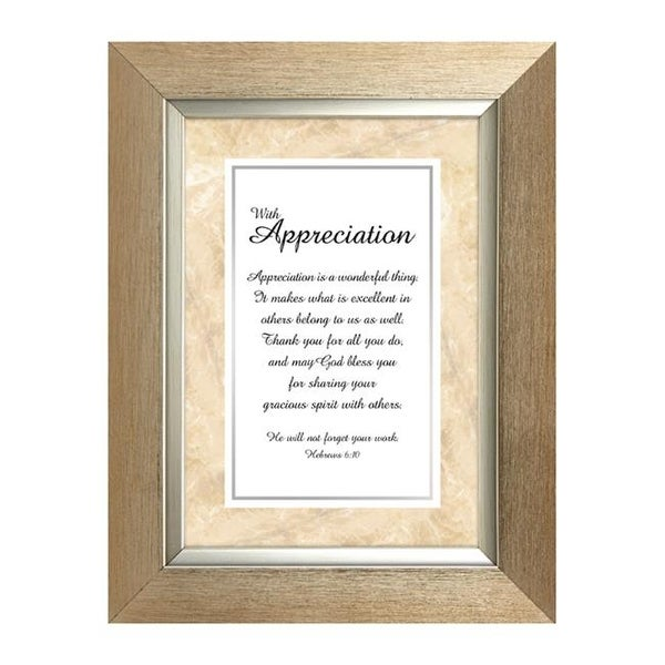 Shop Faithworks Ws059 7 X 9 Table Top Frame Appreciation Heb 6 10