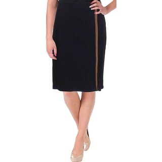 Lauren Ralph Lauren Womens Pencil Skirt Denim Front Slit