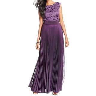 Tahari ASL Womens Peter Evening Dress Sequined Pleated - 12