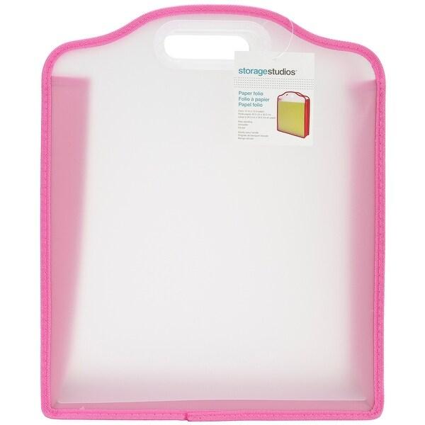 "Storage Studios Paper Folio-3""X13""X15.75"" Pink & Green"