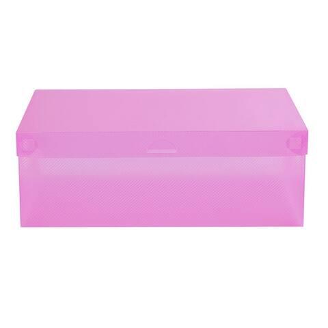 Candy Color Clear Plastic Shoebox Lady Stackable Shoes Storage Box Drawer Unit