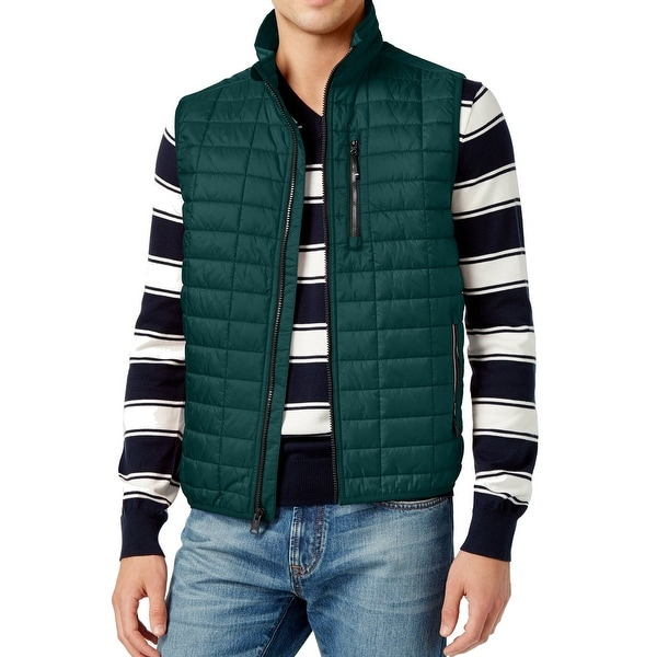 3a8b01945d82 Shop Tommy Hilfiger NEW Green Mens Size XL Quilted Full-Zip Vest Jacket -  Free Shipping Today - Overstock - 19269811