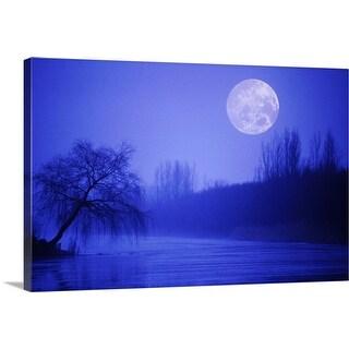 """""""River at night"""" Canvas Wall Art"""