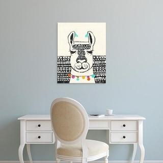 Easy Art Prints Chariklia Zarris's 'Party Llama III' Premium Canvas Art