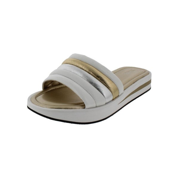 8c62608174f8 MICHAEL Michael Kors Womens Conrad Slide Slide Sandals Metallic Platform -  10 medium (b