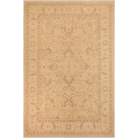 Shabby Chic Sun faded Celia Tan/Beige Hand knotted Rug - 10'0 x 14'0 - 10 ft. 0 in. X 14 ft. 0 in.