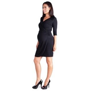 24seven Comfort Apparel V-Neck Women's Maternity Dress