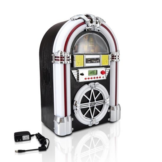 Bluetooth Jukebox MP3 Speaker System, AM/FM Radio, USB/SD Readers, Aux Input