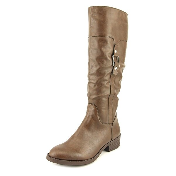 Style & Co Astaire Women Round Toe Synthetic Brown Knee High Boot