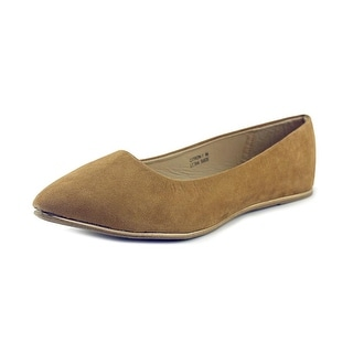 Anna Citron-1 Women  Round Toe Synthetic Tan Flats