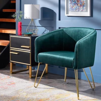 Bette Gold Finish Velvet Accent Chair by iNSPIRE Q Bold