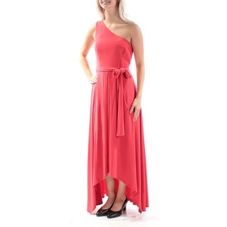 Womens Red Sleeveless Maxi Trapeze Party Dress Size: 6