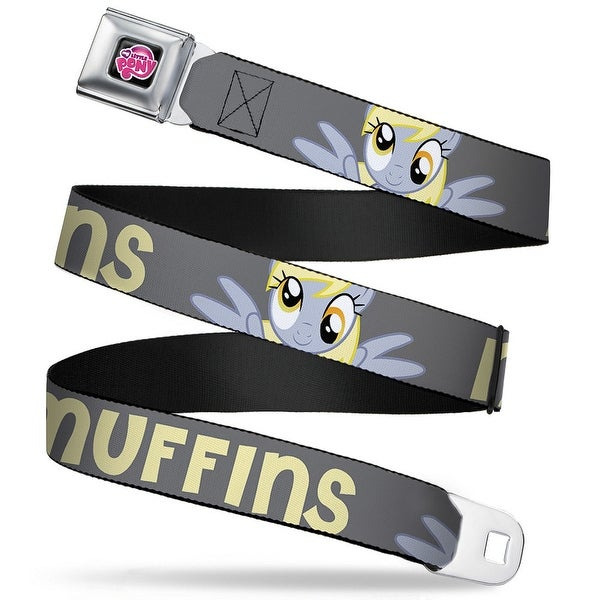My Little Pony Logo Full Color Black Pink Derpy Hooves My Little Pony Seatbelt Belt
