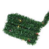 "12' x 2.5"" Pre-Lit Green Pine Artificial Christmas Garland - Multi Lights"