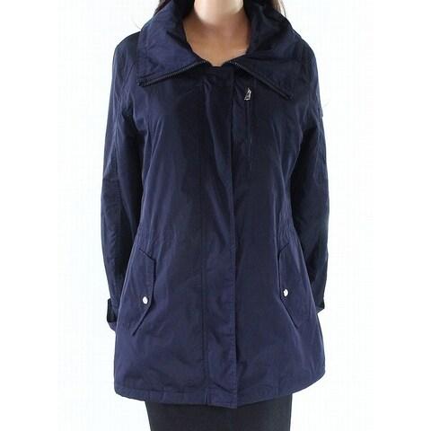 Lauren by Ralph Lauren Blue Womens Size Medium M Hooded Jacket