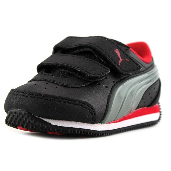 Puma Speed Light-Up V Inf Round Toe Leather Sneakers