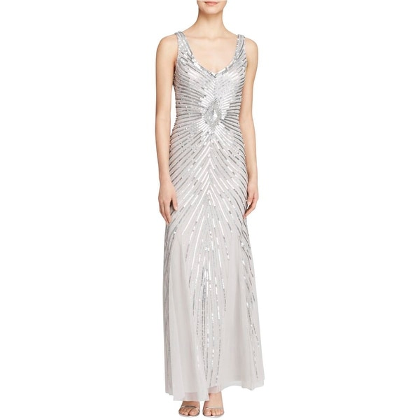 Shop Aidan Mattox Womens Semi-Formal Dress Mesh Embellished - Free ...