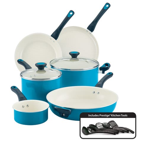 Go Healthy by Farberware Cookware Set & QuiltSmart Technology, 14-pc