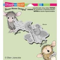 """Make A Wish - Stampendous House Mouse Cling Stamp 3.5""""X4"""""""