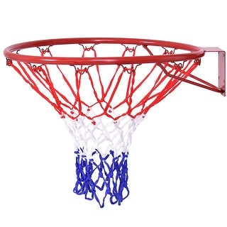Costway 18'' Basketball Ring Hoop Net Outdoor Hanging Basket