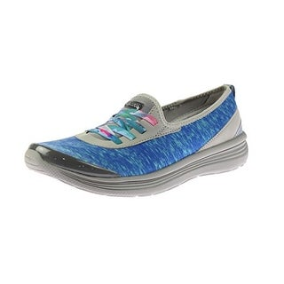 Bzees Womens Wink Lightweight Water Resistant Casual Shoes - red/white/blue digital