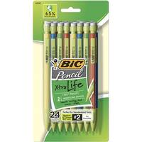 BIC Eco Life Pencil, 0.7 mm Tip, Assorted Color Barrels, Pack of 24