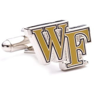 Silver Plated Wake Forest Demon Deacons Cufflinks