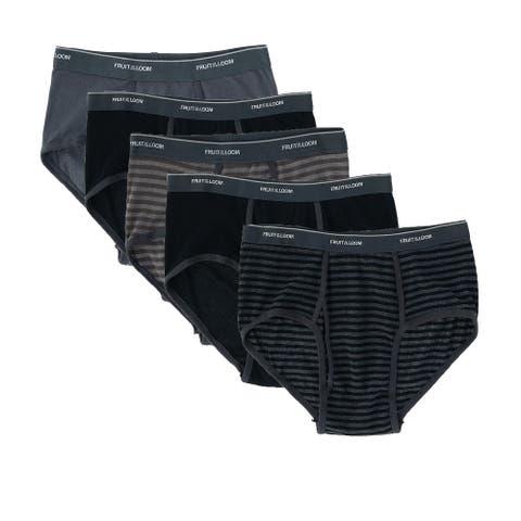 Fruit of the Loom Men's Fashion Pattern Briefs Underwear ( 6 Pack)