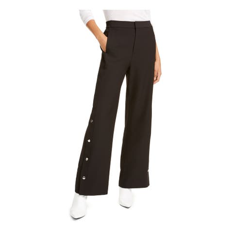 RACHEL ROY Womens Black Zippered Slitted Flare Evening Pants Size 12