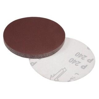 5-Inch Sanding Disc 240 Grits Aluminum Oxide Flocking Back Sandpapers 10 Pcs - 240 Grits