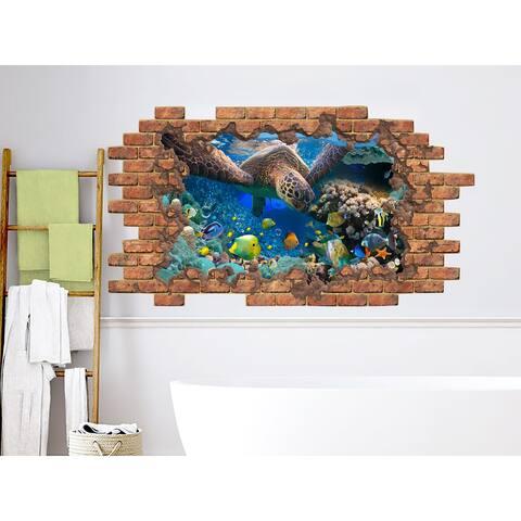 3D Sea Ocean Turtle Wall Sticker