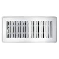 "Truaire C150MWT 04X10 Floor Register, 4"" x 10"", White"