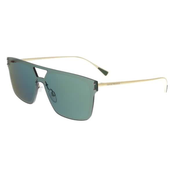 61b3c0f79f Emporio Armani EA2048 30136R Green Gold Rectangle Sunglasses - 43-13-145