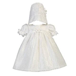 Baby Girls White Lace Tulle Melissa Christening Easter Hat Dress Set 0-18M